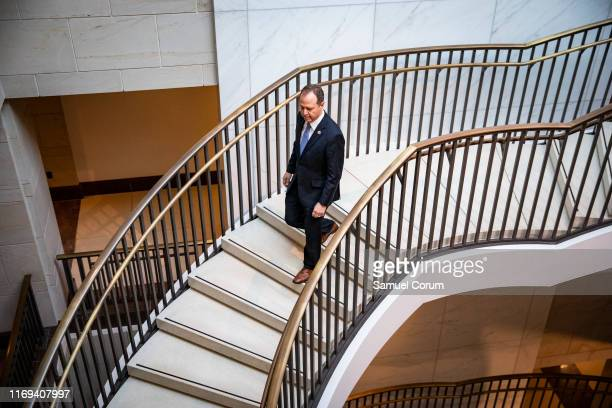 Permanent Select Committee on Intelligence Chairman Adam Schiff arrives at the Capitol before the committee meeting with Intelligence Community...