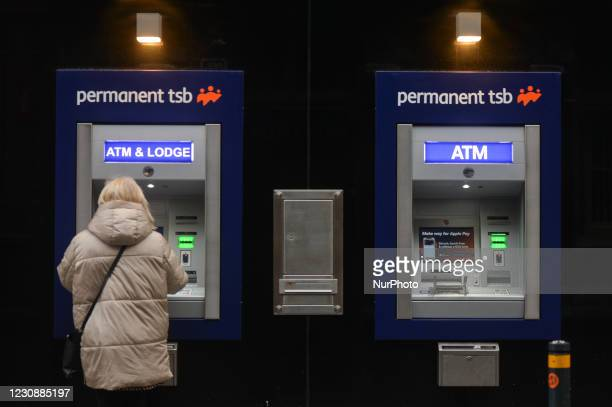 Permanent TSB cash machines seen in Dublin during Level 5 Covid-19 lockdown. On Saturday, 30 January in Dublin, Ireland.