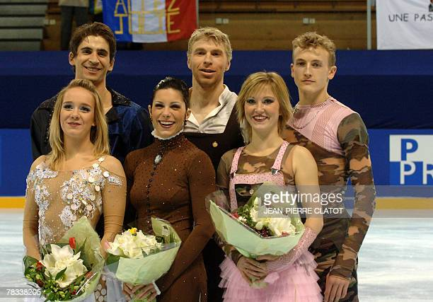 Pernelle Caron and Mathieu Jost Isabelle Delobel and Olivier Schoenfelder and Zoe Blanc and Pierre Loup Bouquet respectively second winner and third...
