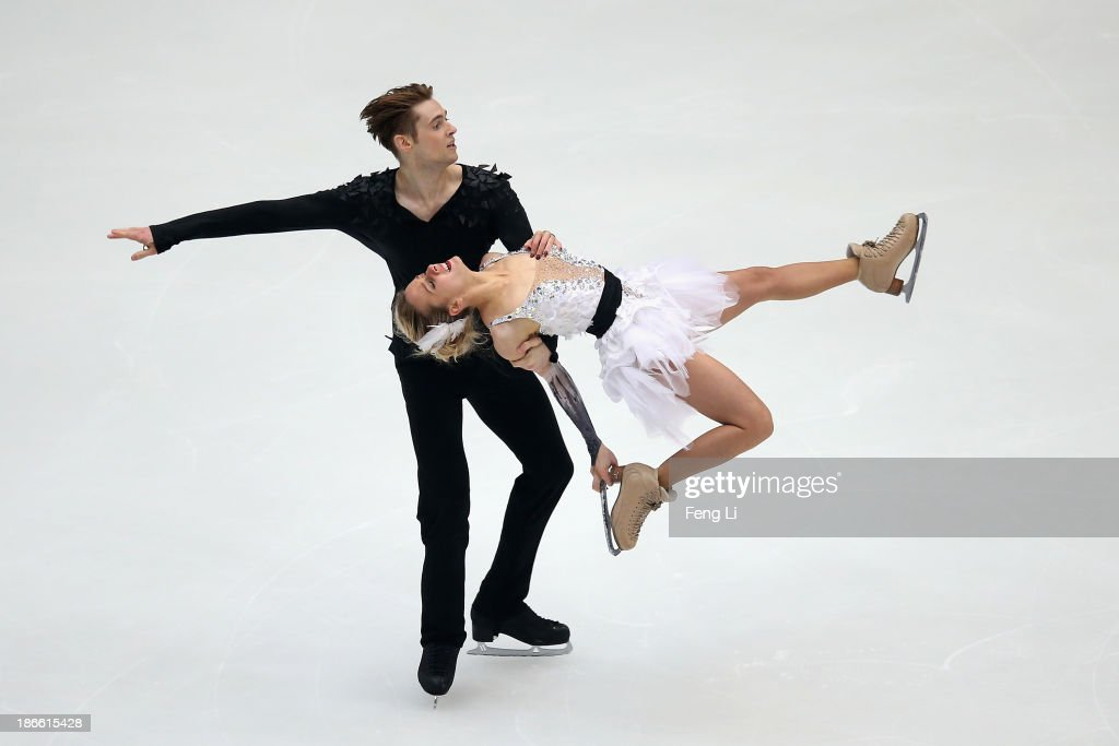 Pernelle Carron and Lloyd Jones of France skate in the Ice Dance Free Dance during Lexus Cup of China ISU Grand Prix of Figure Skating 2013 at Beijing Capital Gymnasium on November 2, 2013 in Beijing, China.
