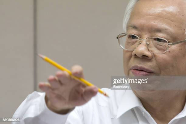 Perng Fai-nan, governor of the Central Bank of the Republic of China , gestures as he speaks during a news conference in Taipei, Taiwan, on Thursday,...