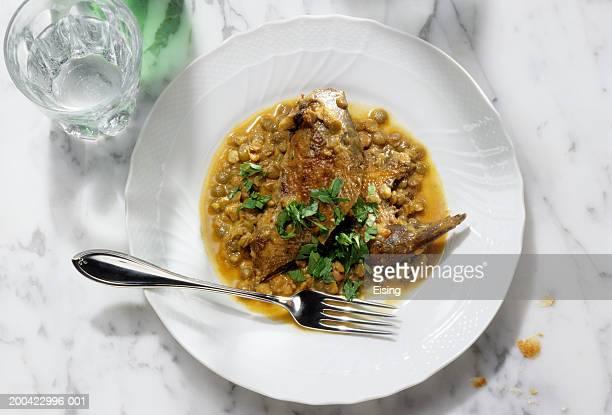 Pernici con lenticchie (partridge with lentils), Italy
