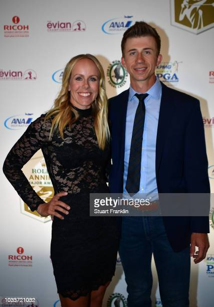 Pernilla Lindberg of Sweden poses for a picture at the RAMA awards after the third round of The Evian Championship at Evian Resort Golf Club on...