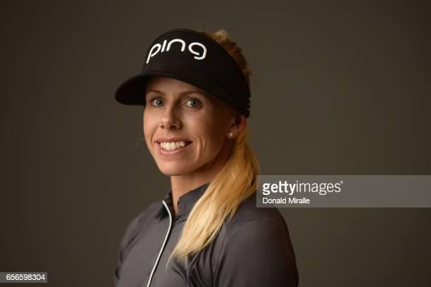 Pernilla Lindberg of Sweden poses for a portrait at the Park Hyatt Aviara Resort on March 21 2017 in Carlsbad California