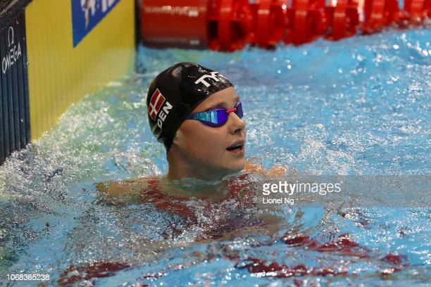 Pernille Blume of Denmark during the 50m Butterfly Finals on day two of the FINA Swimming World Cup at OCBC Aquatic Centre on November 16 2018 in...