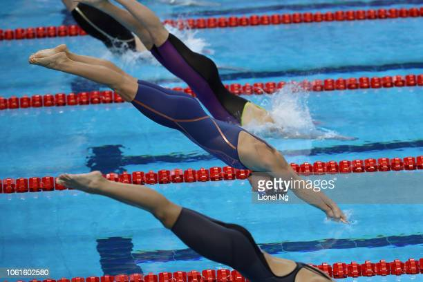 Pernille Blume of Denmark during the Women's 50m Freestyle Heats on day one of the FINA Swimming World Cup at OCBC Aquatic Centre on November 15 2018...