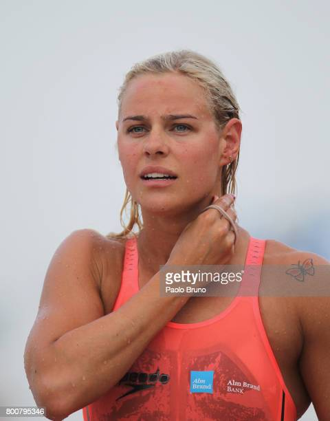 Pernille Blume of Denmark looks on after competing in the Women's 50m freestyle final A during the 54th 'Sette Colli' international swimming trophy...