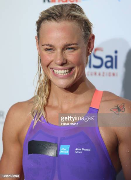 Pernille Blume of Denmark looks on during the 55th 'Sette Colli' international swimming trophy at Foro Italico on June 30 2018 in Rome Italy