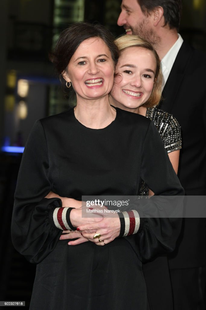 Pernille Fischer Christensen and Alba August attend the 'Becoming Astrid' (Unga Astrid) premiere during the 68th Berlinale International Film Festival Berlin at Friedrichstadtpalast on February 21, 2018 in Berlin, Germany.