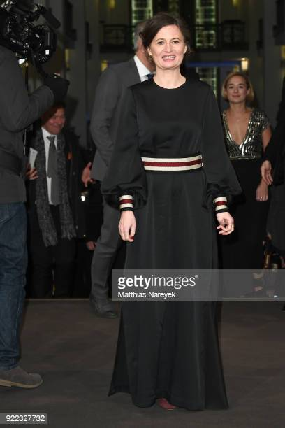 Pernille Fischer Christensen attends the 'Becoming Astrid' premiere during the 68th Berlinale International Film Festival Berlin at...