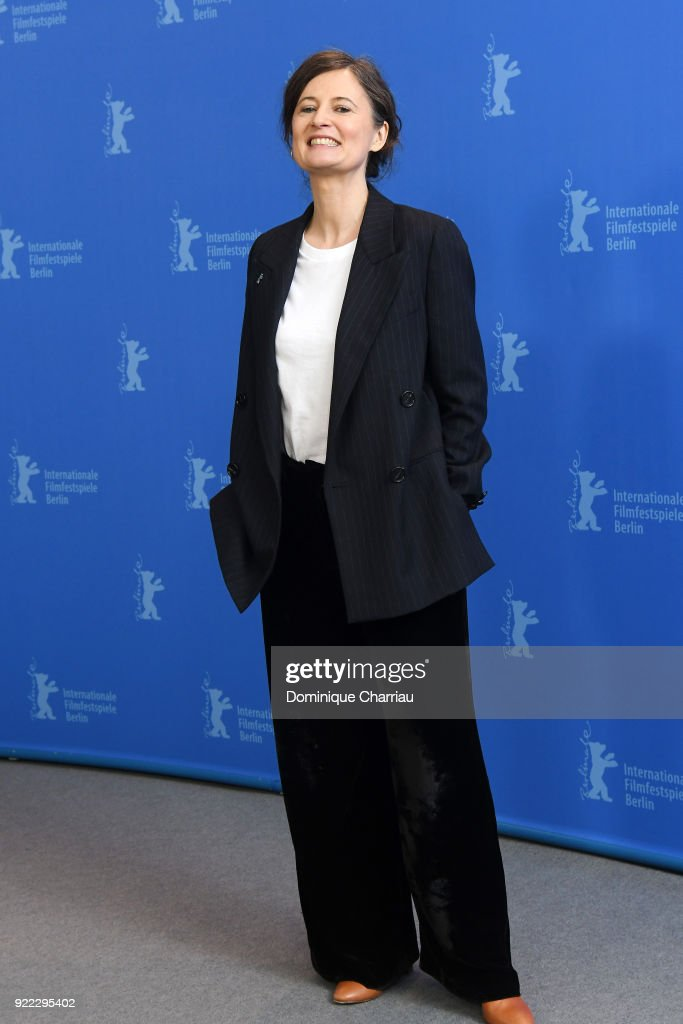 Pernille Fischer Christensen poses at the 'Becoming Astrid' (Unga Astrid) photo call during the 68th Berlinale International Film Festival Berlin at Grand Hyatt Hotel on February 21, 2018 in Berlin, Germany.