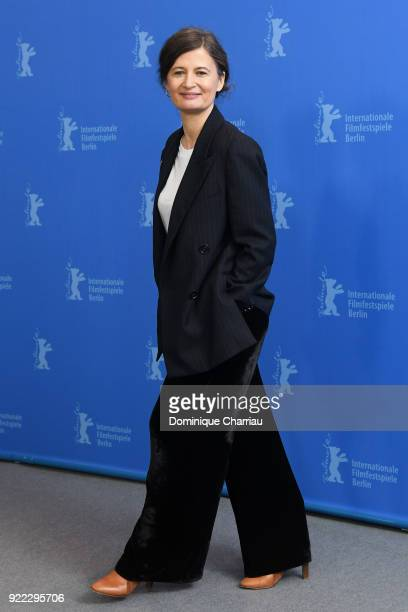 Pernille Fischer Christensen poses at the 'Becoming Astrid' photo call during the 68th Berlinale International Film Festival Berlin at Grand Hyatt...