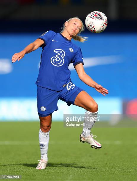 Pernille Harder of Chelsea during the Barclays FA Women's Super League match between Chelsea Women and Manchester City Women at Kingsmeadow on...