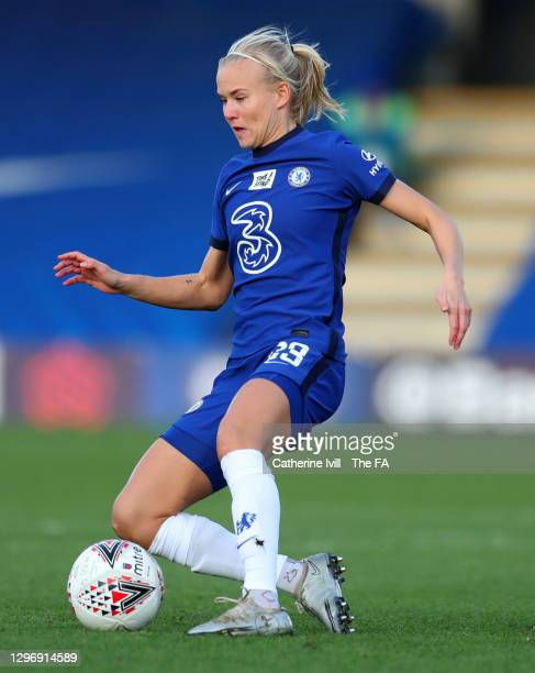 Pernille Harder of Chelsea during the Barclays FA Women's Super League match between Chelsea Women and Manchester United Women at Kingsmeadow on...