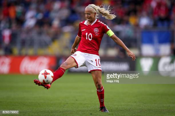 Pernille Harder of Denmark controls the ball during the UEFA Women's Euro 2017 Semi Final match between Denmark and Austria at Rat Verlegh Stadion on...