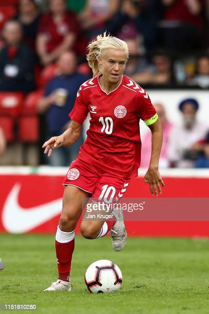 Pernille Harder of Denmark during the International Friendly between England Women and Denmark Women at Bank's Stadium on May 25, 2019 in Walsall,...