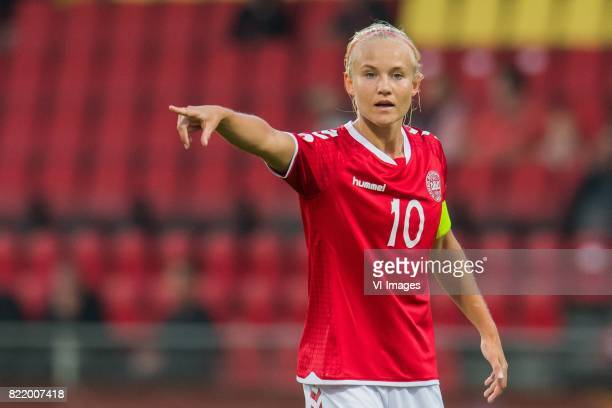 Pernille Harder of Denmark during the UEFA WEURO 2017 Group A group stage match between Norway and Denmark at The Adelaarshorst on July 24 2017 in...