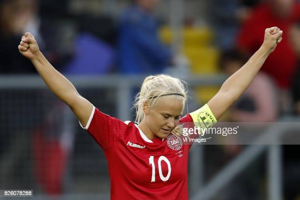 Pernille Harder of Denmark during the UEFA WEURO 2017 semifinal match between Denmark and Austria at the Rat Verlegh stadium on August 03 2017 in...