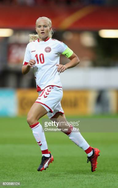 Pernille Harder of Denmark in action during the UEFA Women's Euro 2017 Group A match between Netherlands and Denmark at Sparta Stadion on July 20...