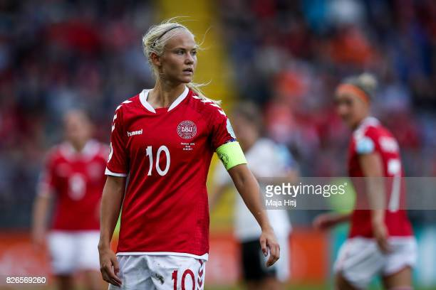 Pernille Harder of Denmark looks on during the UEFA Women's Euro 2017 Semi Final match between Denmark and Austria at Rat Verlegh Stadion on August 3...