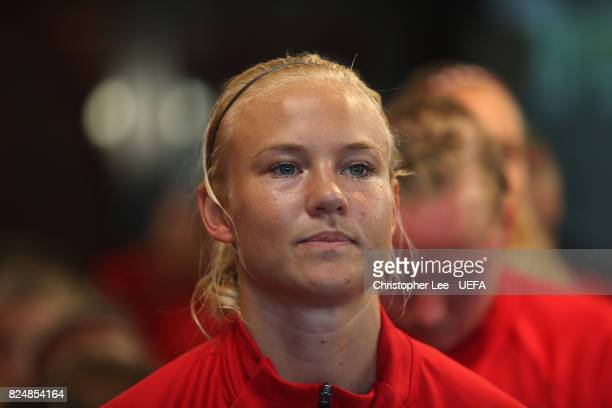 Pernille Harder of Denmark waits in the tunnel before kick off during the UEFA Women's Euro 2017 Quarter Final match between Germany and Denmark at...