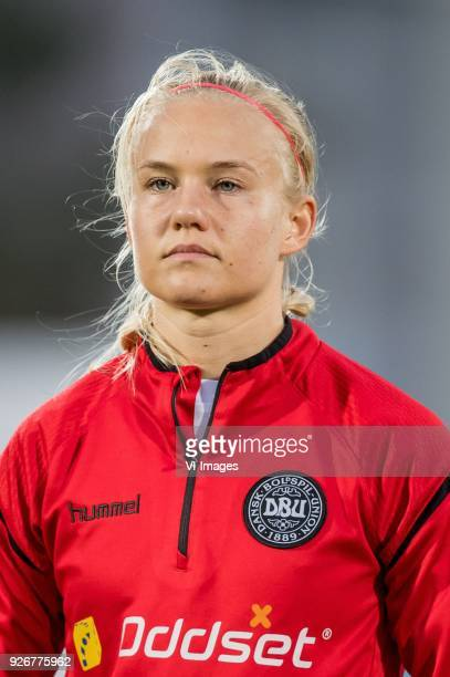 Pernille Harder of Denmark women during the Algarve Cup 2018 match between the Netherlands and Denmark at the Complexo Desportivo Municipal de Vila...