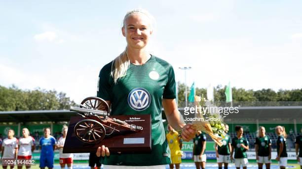 Pernille Harder of Wolfsburg before the Allianz Frauen Bundesliga match between VfL Wolfsburg and 1 FFC Frankfurt at AOKStadion on September 16 2018...