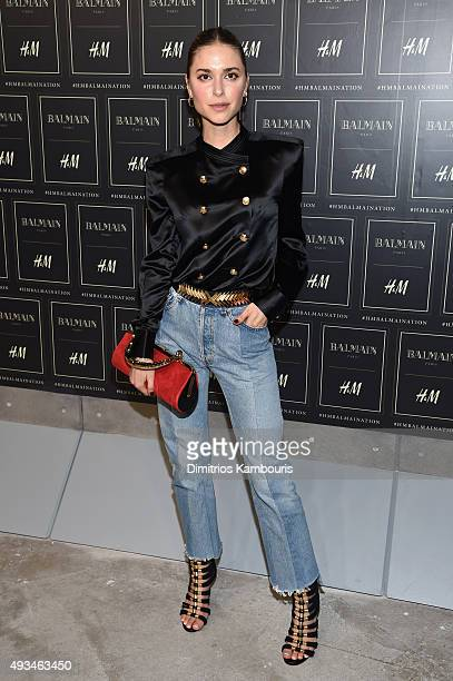 Pernille Teisbaek attends the BALMAIN X HM Collection Launch at 23 Wall Street on October 20 2015 in New York City