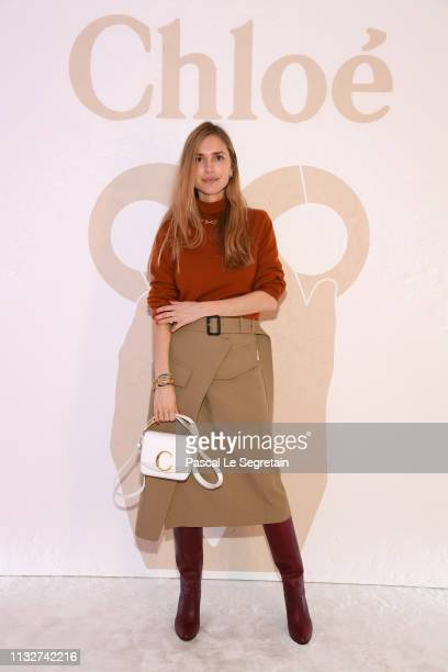 Pernille Teisbaek attends the Chloe show as part of the Paris Fashion Week Womenswear Fall/Winter 2019/2020 on February 28 2019 in Paris France
