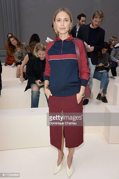 Pernille Teisbaek attends the Chloe show as part of the Paris Fashion Week Womenswear Spring/Summer 2017 on September 29 2016 in Paris France