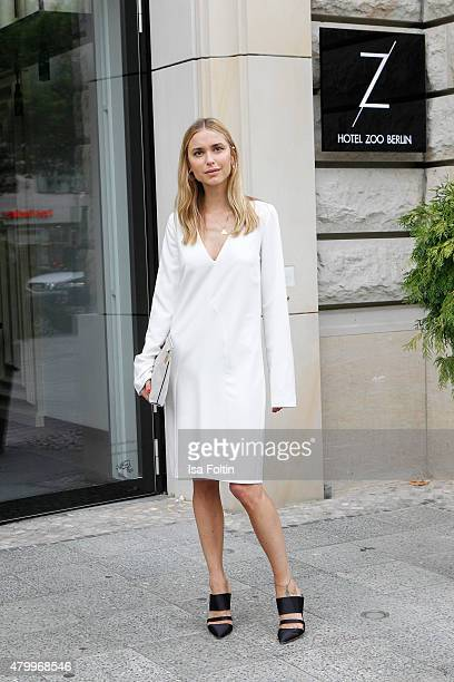 Pernille Teisbaek attends the InStyle Cocktail during the MercedesBenz Fashion Week Berlin Spring/Summer 2016 at Hotel Zoo on July 8 2015 in Berlin...