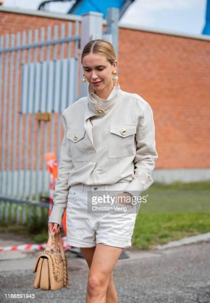 Pernille Teisbaek is seen outside By Malene Birger during Copenhagen Fashion Week Spring/Summer 2020 on August 08, 2019 in Copenhagen, Denmark.