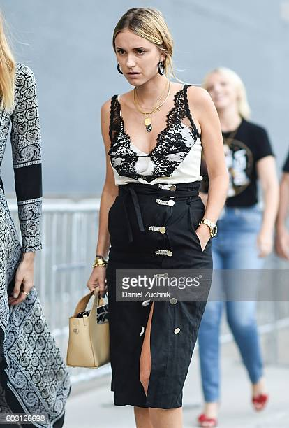 Pernille Teisbaek is seen outside the Altuzarra show during New York Fashion Week Spring 2017 on September 11 2016 in New York City