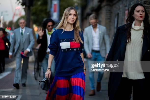 Pernille Teisbaek outside Tommy Hilfiger during London Fashion Week September 2017 on September 19 2017 in London England