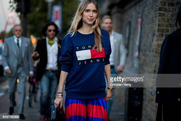 Pernille Teisbaek outside Tommy Hilfiger during London Fashion Week September 2017 on September 19 2017 in London England
