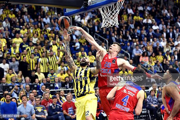 Pero Antic #12 of Fenerbahce Istanbul during the Turkish Airlines Euroleague Basketball Final Four Berlin 2016 Championship game between Fenerbahce...
