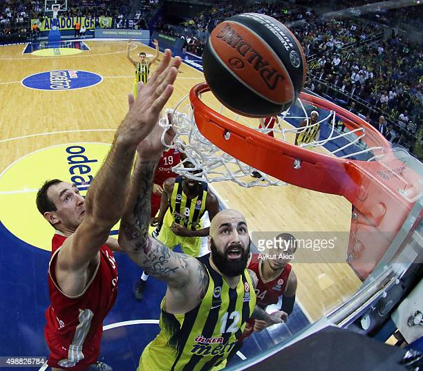 Pero Antic #12 of Fenerbahce Istanbul in action during the Turkish Airlines Euroleague Regular Season Round 7 game between Fenerbahce Istanbul v...