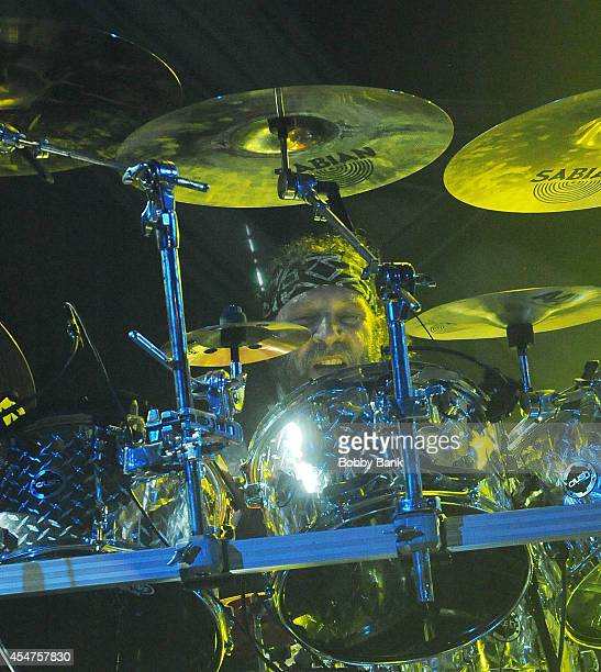 J Pero of Twisted Sister performs at Best Buy Theater on September 5 2014 in New York City