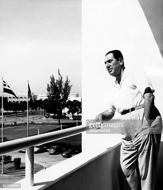 Peron Juan *08101895Politiker ArgentinienPraesident Argentinien 19461955/19731974Portrait im Exil Dominikanische Republik 1959