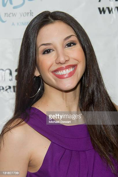 TV peronality Diana Falzone attends St Pawtricks Yappy Hour benefiting the Humane Society of New York at the Muse Hotel on March 16 2011 in New York...