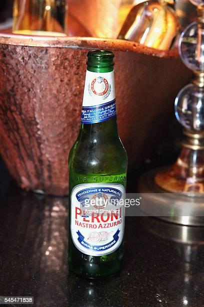 Peroni beer is served to guests during the after party at Provocateur for a screening of director Joe Berlinger's Tony Robbins I Am Not Your Guru...