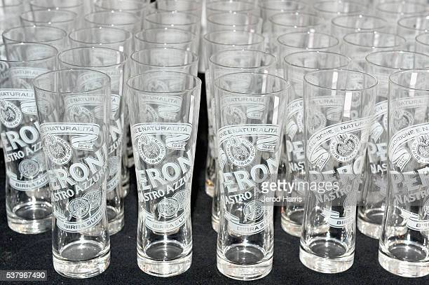 Peroni glassware is displayed at the Filmmaker Reception during the 2016 Los Angeles Film Festival on June 3 2016 in Culver City California