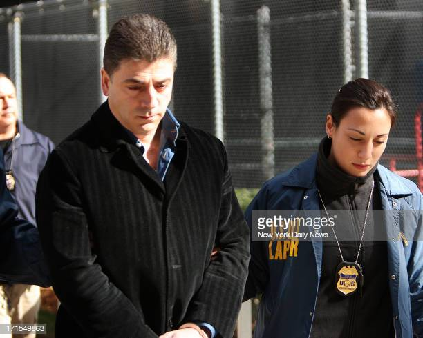 FBI perp walk members of the Gambino crime family Frank Cali 61 other Costa Nostra associates were arrested and charged with federal racketeering...