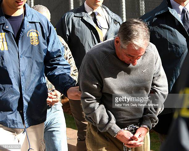 FBI perp walk members of the Gambino crime family Joseph Corozzo out of Federal plaza