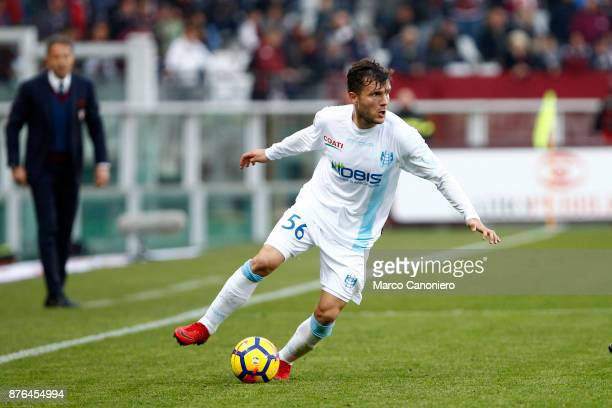 Perparim Hetemaj of Ac Chievo Verona in action during the Serie A football match between Torino Fc and Ac Chievo Verona . The match ended in a 1-1...
