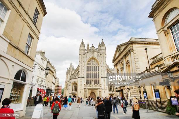 Perpendicular Gothic Bath Abbey in Bath,England