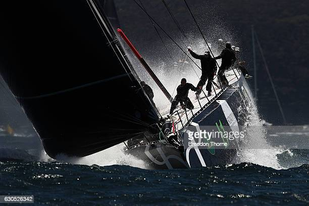 'Perpetual Loyal' heads out to sea during the 2016 Sydney To Hobart Yacht Race on December 26 2016 in Sydney Australia