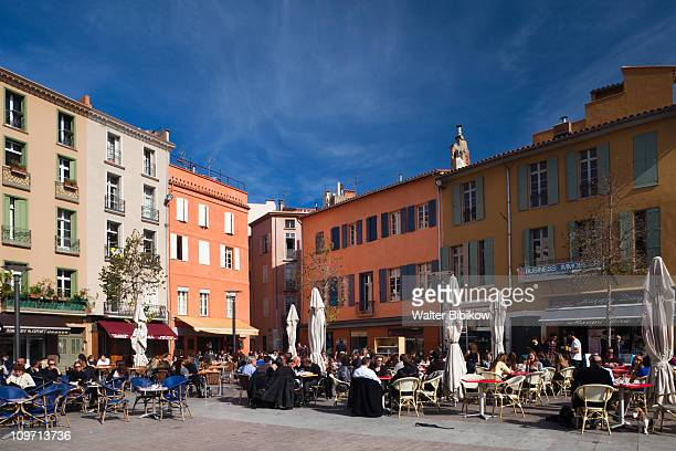 perpignan, place de la republique - perpignan stock photos and pictures