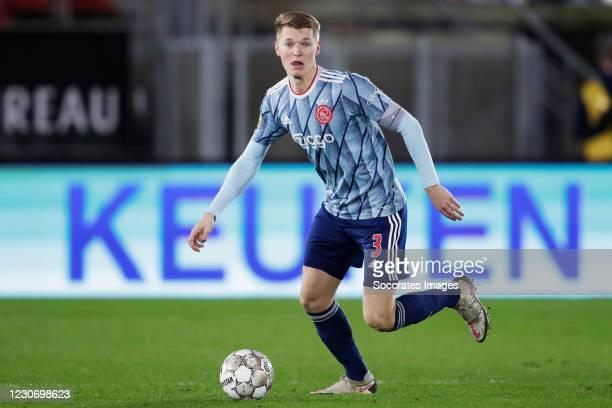 Perr Schuurs of Ajax during the Dutch KNVB Beker match between AZ Alkmaar v Ajax at the AFAS Stadium on January 20, 2021 in Alkmaar Netherlands