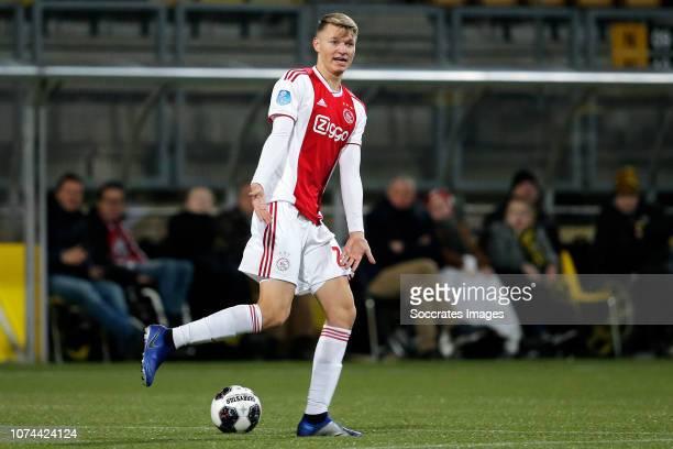 Perr Schuurs of Ajax during the Dutch KNVB Beker match between Roda JC v Ajax at the Parkstad Limburg Stadium on December 19 2018 in Kerkrade...